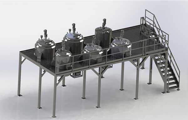 Construction d'usines de traitement pour l'industrie chimique